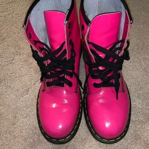 pink doc martens US W 8